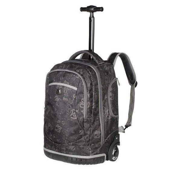 SMD Technologies Laptop Trolley Bags Black/ Grey Volkano Elementary Series Boys Trolley Bags - Black and Grey