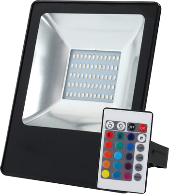 Calasca Lighting SMD F/ L30W RG W/ Remote Black