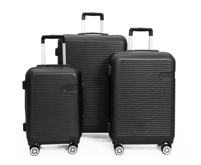 Calasca Luggage Sets SideKick - Ruby 3pc Luggage Set - Black