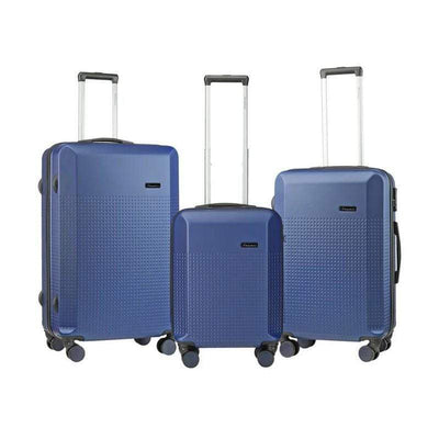 SMD Technologies Luggage Sets Navy Travelwize Cyclone 3-Pc ABS Luggage Set - Navy