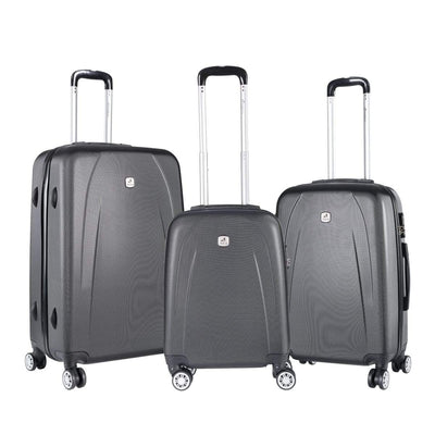 SMD Technologies Luggage Sets Dark Grey Travelwize Stratus ABS 3 Piece Set Dark Grey