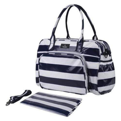 SMD Technologies Nappy Bags Navy/White Totes Babe Milagro Diaper Bag 26L