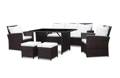 Calasca Patio Lounges Fine Living - Deluxe Rattan 6pc Suite