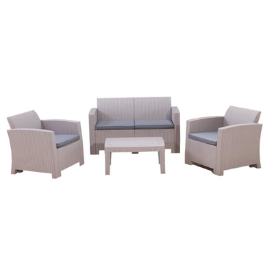 Calasca Patio Lounges Fine Living - Nantucket Patio Set - Light Grey/Gre