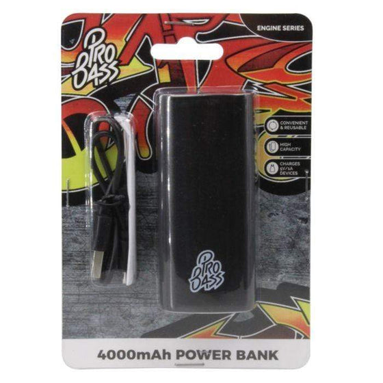 SMD Technologies Power Banks Black Pro Bass Engine Series 4000mAh Powerbank- Black