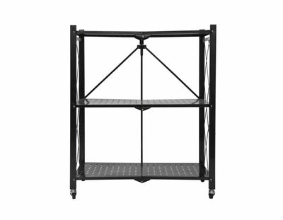Calasca Storage Fine Living Foldable stroage rack-Black Metal 3 La