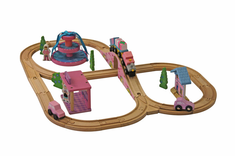 Calasca Toys for Boys & Girls Jeronimo Train Set 41pc - Pink/Purple