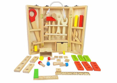 Calasca Toys for Boys Wooden Tool Carry Case