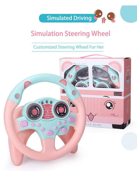 Calasca Toys for Girls Kids Steering Wheel - Pink