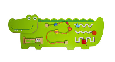 Calasca Toys for Toddlers Jeronimo - Wooden Wall Activity Crocodile