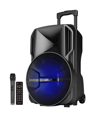 Astrum Trolley Speakers Astrum 80W RMS Wireless Trolley Speaker + Tweeters  - TM151