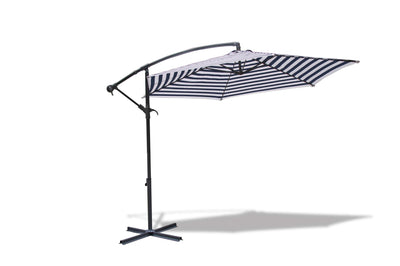 SmartMallSA Umbrella - Vogue Cantilever - Navy/White Stripe