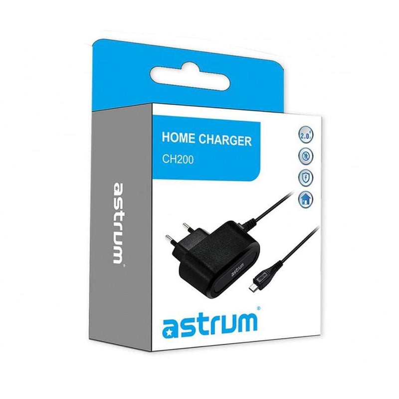 Astrum Wall & Travel Charges Astrum Micro USB Home Charger 2A with 1.5 Meter Cable - CH200 Black