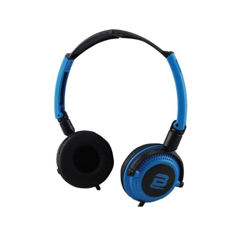 SMD Technologies Wired Headphones Blue/ Black Bounce Swing Series Headphones with Mic- Blue/Black