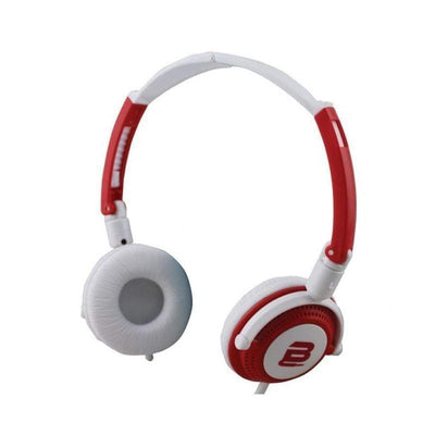 SMD Technologies Wired Headphones Red/ White Bounce Swing Series Headphones with Mic - Red/White