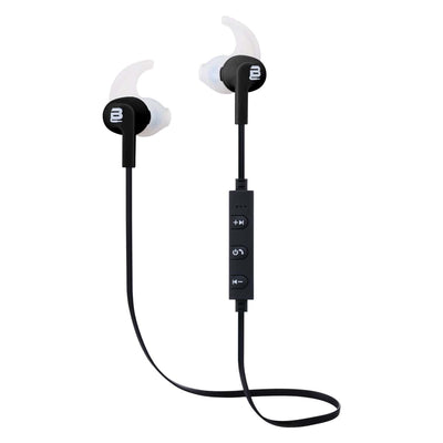 SMD Technologies Wireless Earphones Black Bounce BO-1005-BK Pace Series Sports Bluetooth Earphones