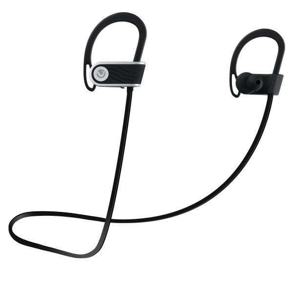 SMD Technologies Wireless Earphones Black volkano-Bluetooth Earphones With Voice Assist And Pouch