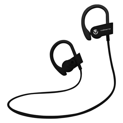 SMD Technologies Wireless Earphones Black Volkano Race Series Bluetooth Sport Earhook Wireless Earphones - Black