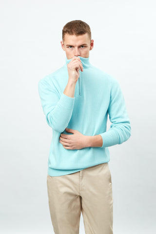 Long Sleeve Half Zip Knit