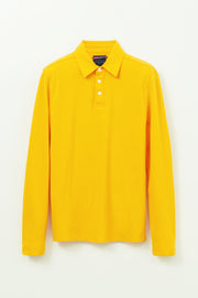 Long Sleeve 3 Button Pique Polo