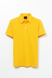 Short Sleeve 3 Button Pique Polo