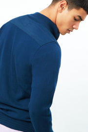 1/4 Zip With Woven Front