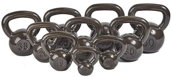 HulkFit Enamel Coated Cast Iron Kettlebell