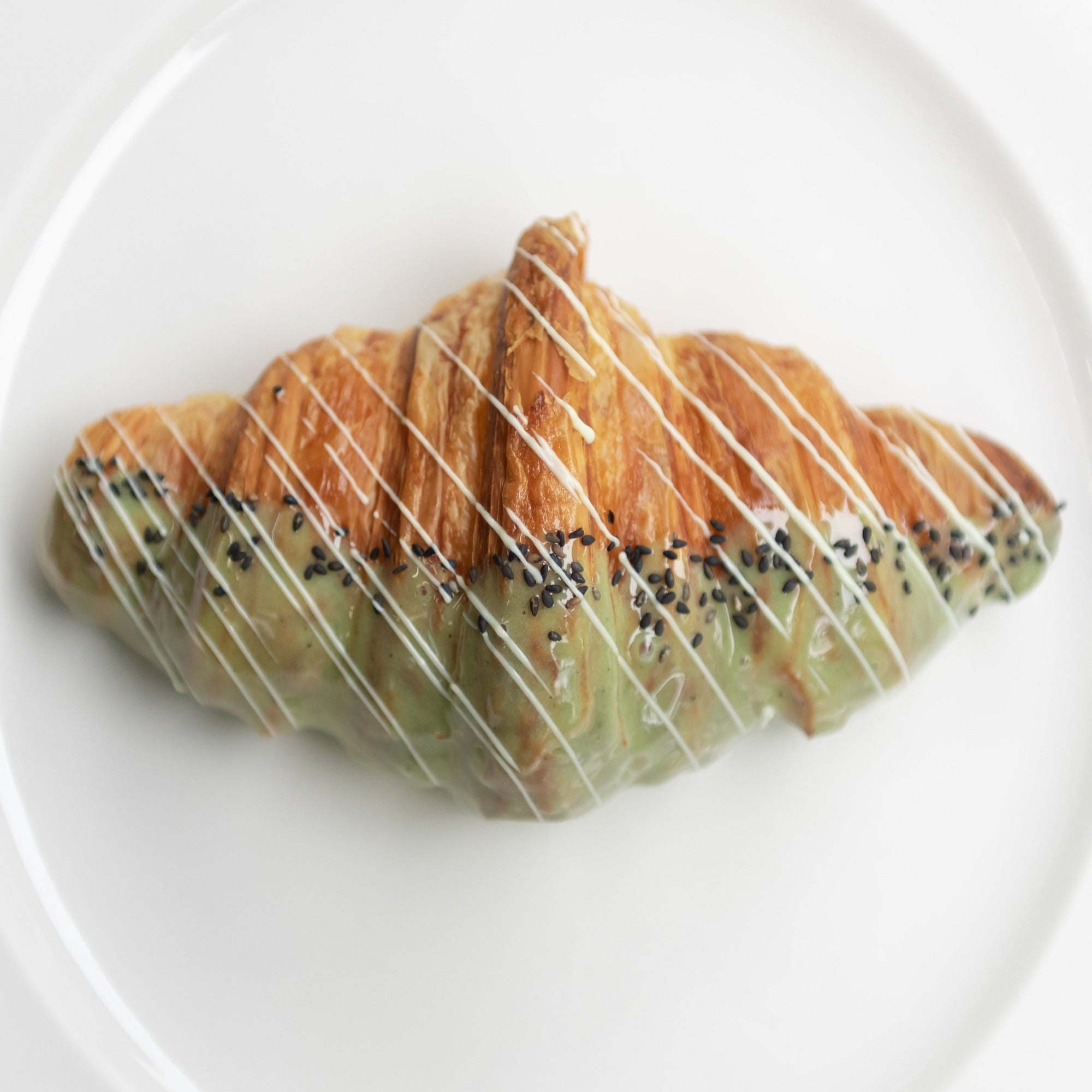 Matcha Honey Cream Croissant