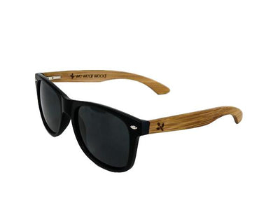 Classic Black Bamboo Sunglasses - With Case