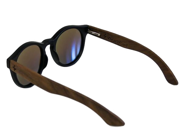 Blue Walnut Rounds Sunglasses