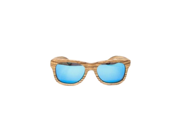 Blue Zebra Wood Sunglasses