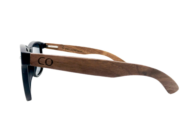 State of Colorado Classic Black Walnut Sunglasses