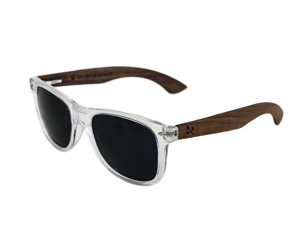 Clear Walnut Sunglasses