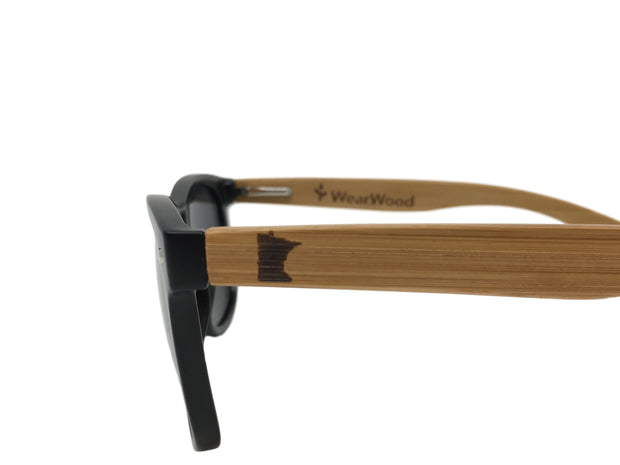 State of Minnesota Classic Black Bamboo Sunglasses