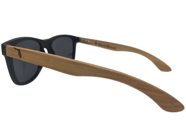 State of Florida Classic Black Bamboo Sunglasses