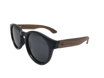 Walnut Round Sunglasses