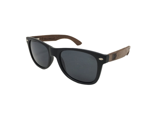 State of Iowa Classic Black Walnut Sunglasses