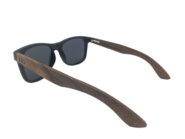 State of North Dakota Walnut Sunglasses