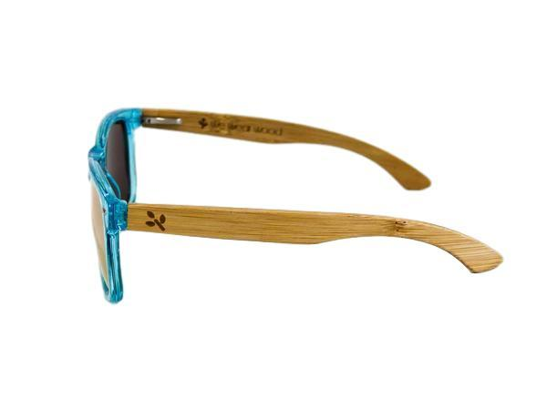 Ocean Blue Bamboo Sunglasses