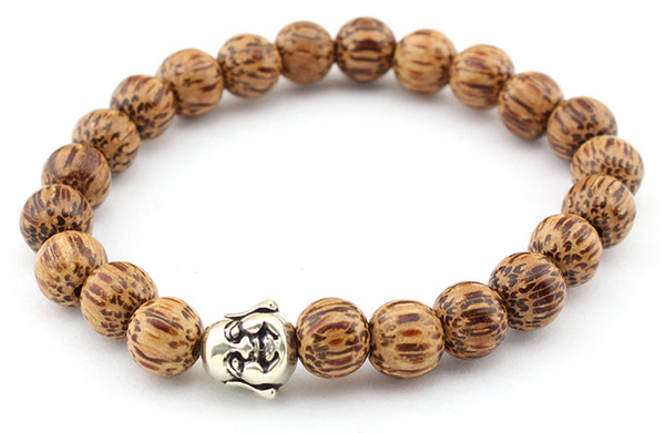 Bamboo Laughing Buddha Bracelet - WearWood - 1