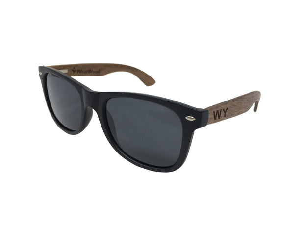 State of Wyoming Classic Black Walnut Sunglasses