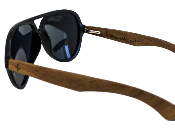 Walnut Aviator Sunglasses
