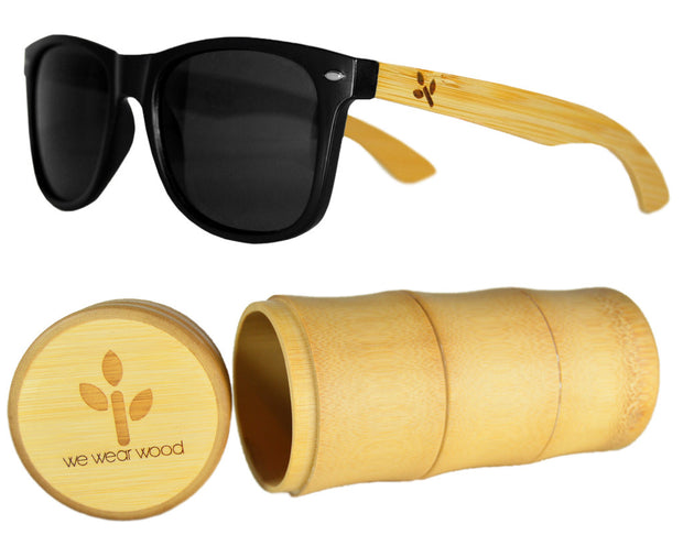 Classic Black Bamboo Sunglasses - WearWood - 1