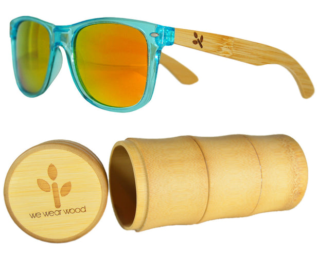 Ocean Blue Bamboo Sunglasses - WearWood - 1