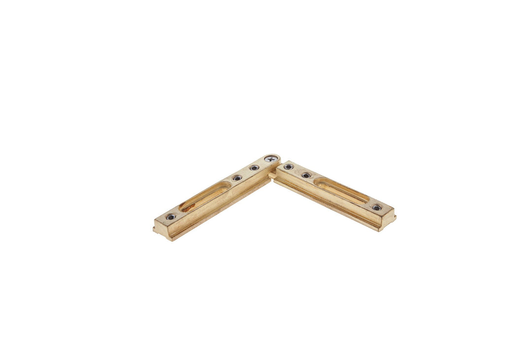 SHOWER BRASS ADJUSTABLE HEADER BRACKETS