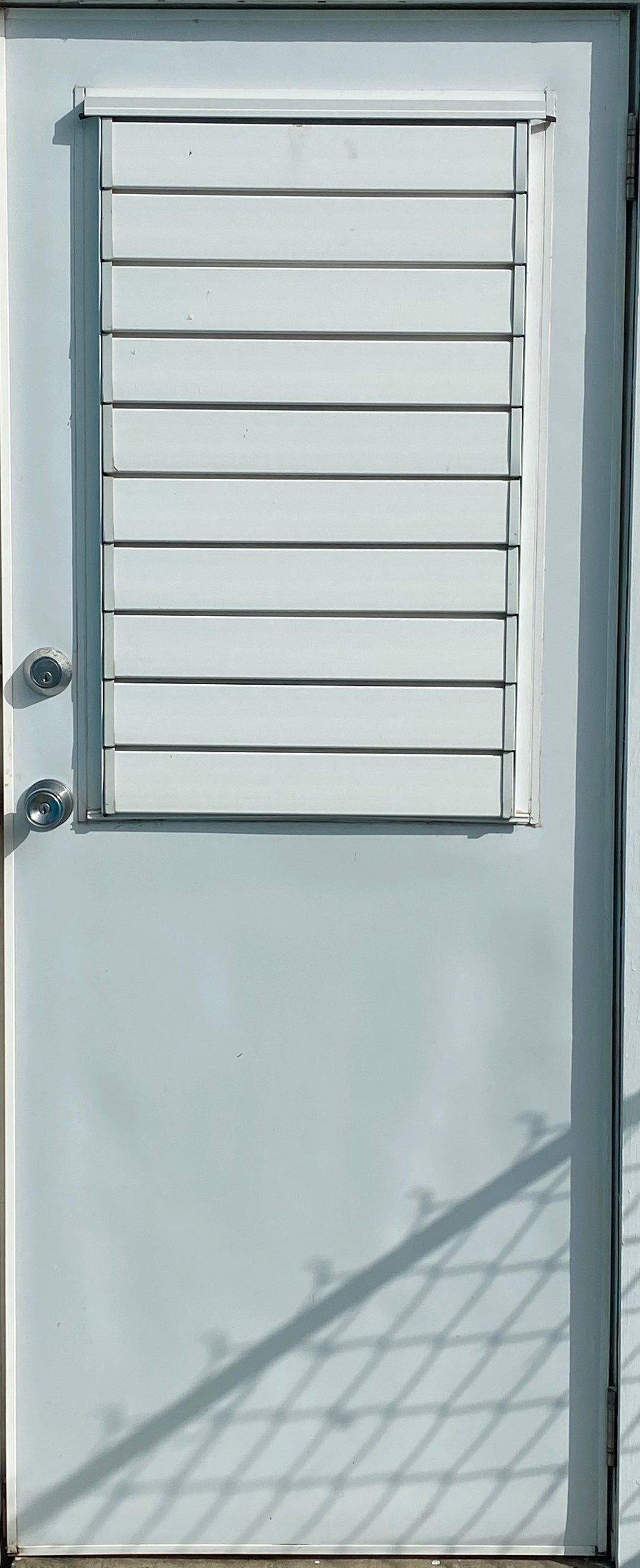 UPVC DOOR - 1/2 LOUVRE DOOR (SPECIAL ORDER)