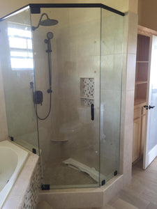 FRAMELESS NEO ANGLE SHOWER DOOR UNIT - (Supply & Install)