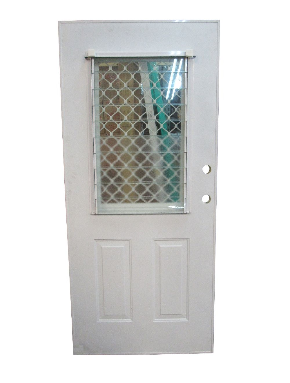 STEEL DOOR - 1/2 GLASS LOUVRE AND GRILL (SALE)