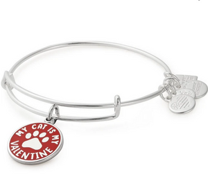 Alex and Ani My Cat is my Valentine Bangle in Silver