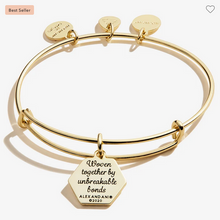 Load image into Gallery viewer, Alex and Ani Gold Sister Bracelet